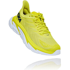 Hoka One One Clifton Edge Running Shoes Men, citrus/white